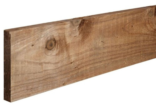 Timber Gravel Board (1830 x 150 x 22mm) - Pressure Treated Brown Softwood