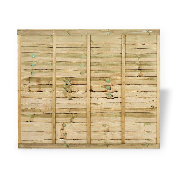 6ft Traditional Lap Fence Panel (1830 x 1500mm) - Pressure Treated Green Timber