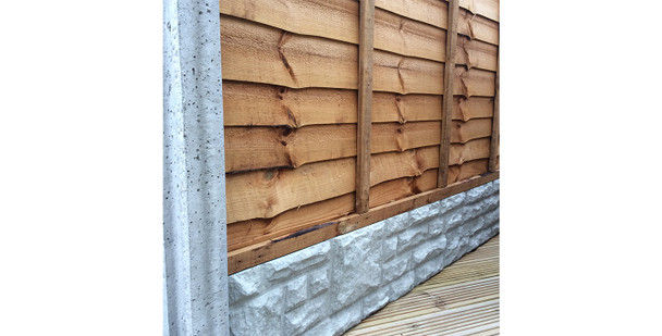 Concrete Slotted End Fence Post (2440 x 90 x 110mm)