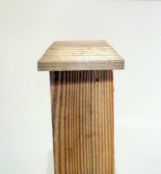 Fence Post Cap (100 x 100mm) - Pressure Treated Brown Timber