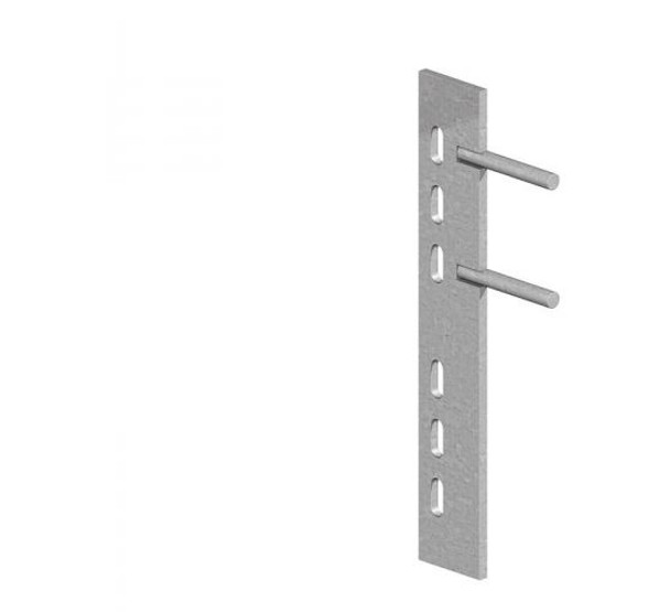 Galvanised Steel Push-In Cleat (300mm) - Two Pins
