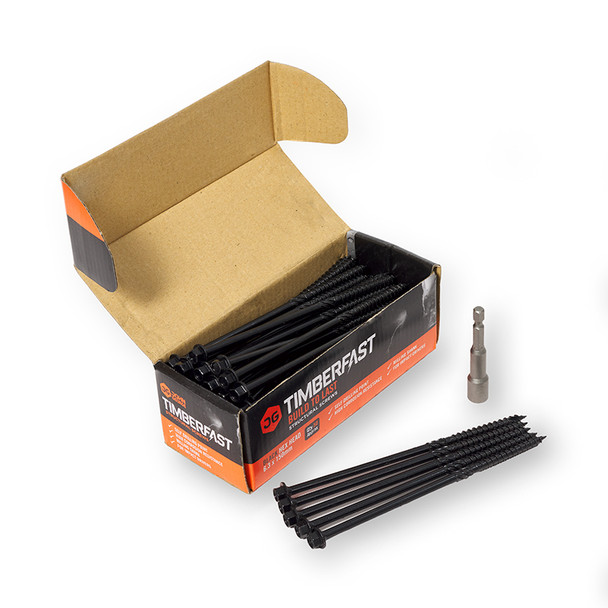 150mm Timber Fast Landscaping Screw (50) Black