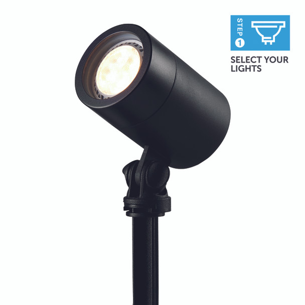 Ellumière Small Black Spotlight (110mm) -  2w LED Bulb