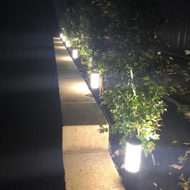 Ellumière Black Bollard Light (350mm) - 3w LED Bulb