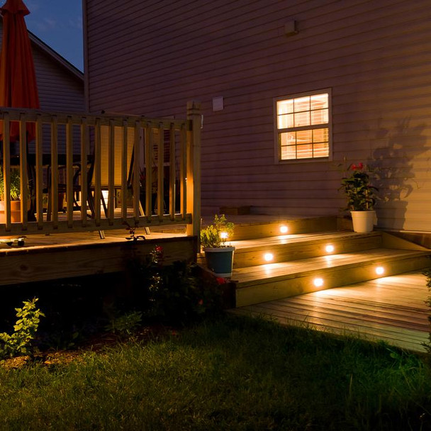 Ellumière Small Deck Lights (45mm) - 1w LED Bulb, Set of 4
