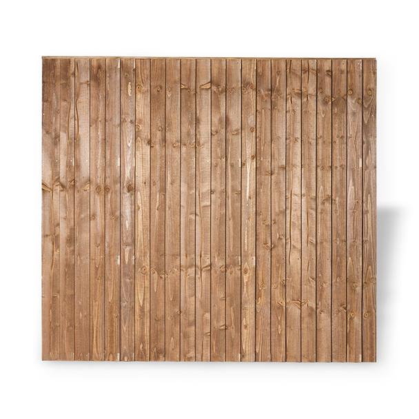 Brown closeboard fence panel