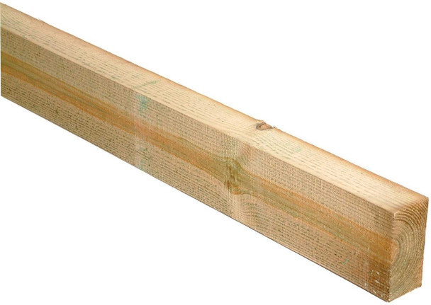 75 x 150 x 2100mm Sawn Treated C16 Green Timber