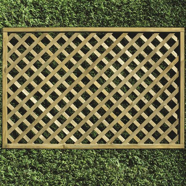 Heavy Diamond Lattice Panel (1200 x 1800mm) - Pressure Treated Green Timber