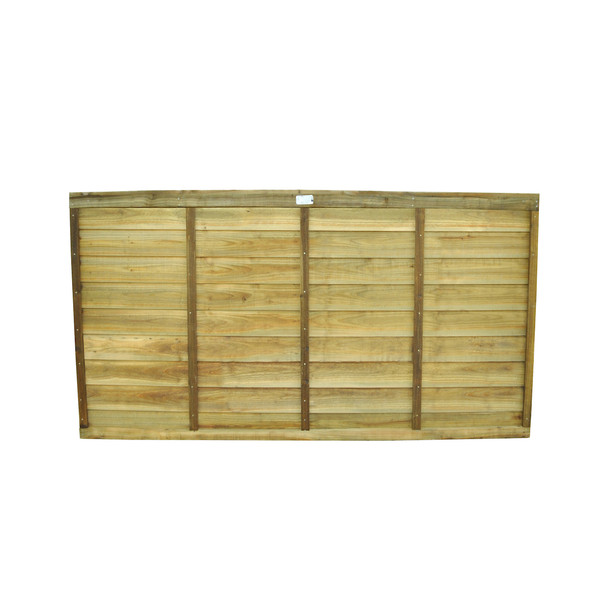 Traditional Lap Fence Panel (1830 x 900mm) - Pressure Treated Natural Timber