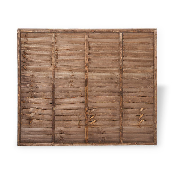 Traditional Lap Fence Panel (1830 x 1500mm) - Dip Treated Brown Timber