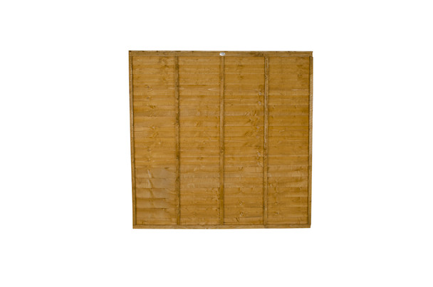 6ft Traditional Lap Fence Panel (1830 x 1200mm) - Dip Treated Brown Timber