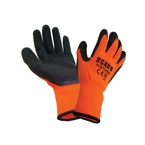 Thermal Gloves Orange/Black (Large)