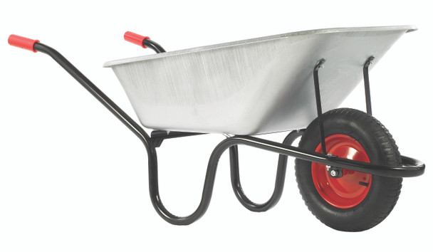 County Galvanised Pan Wheelbarrow (120L) Painted Frame
