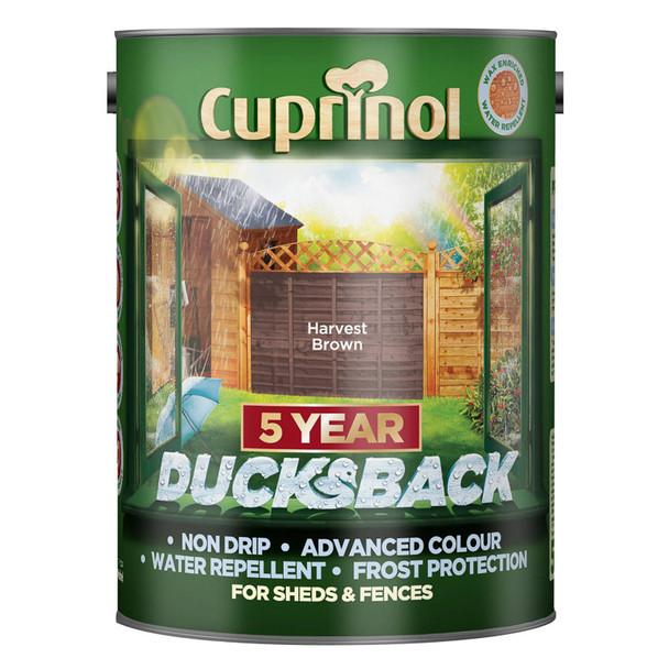 Cuprinol Ducksback 5 Ltr Harvest Brown
