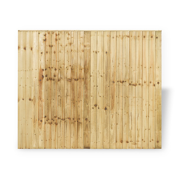 Closeboard Fence Panel (1830 x 1500mm) - Pressure Treated Natural Timber