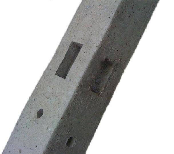 Concrete Corner Fence Post (2750 x 100 x 100mm)