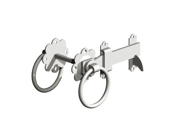 "7"" galvanised Ring Gate Latch"