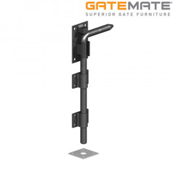 "18"" Black Garage Door Bolt"