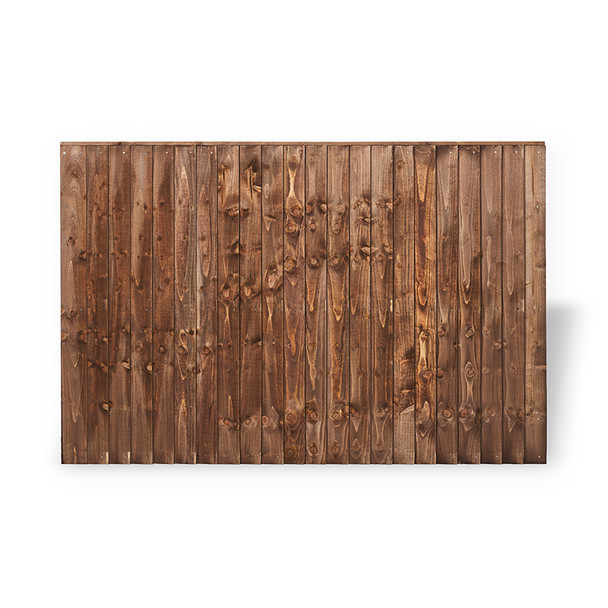 Closeboard Fence Panel (1830 x 1200mm) - Dip Treated Brown Timber