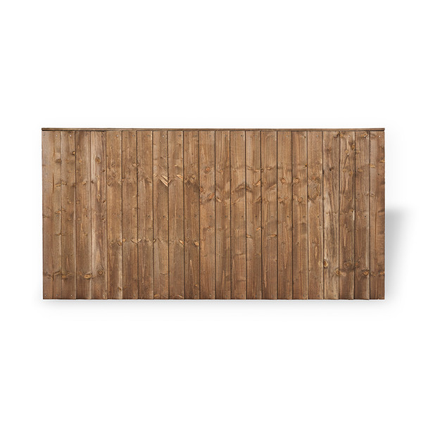 Closeboard Fence Panel (1830 x 900mm) - Dip Treated Brown Timber