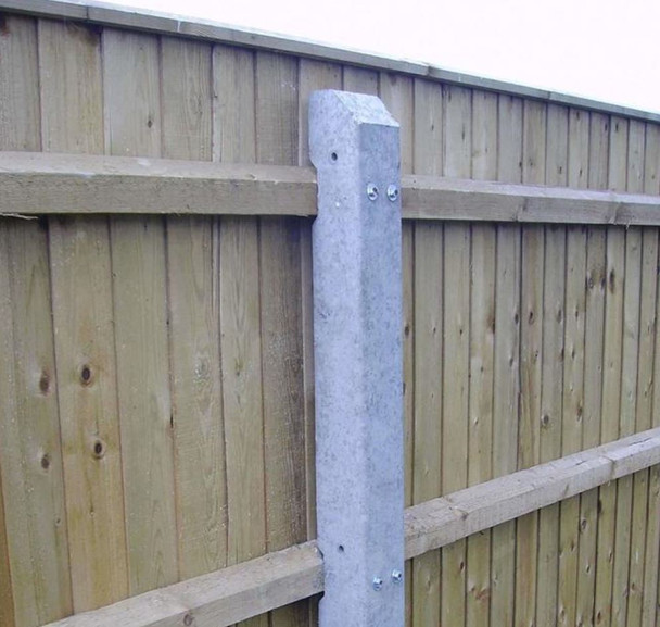 Concrete Intermediate Fence Post (2515 x 140-90 x 120mm) - Recessed for 3 Rails