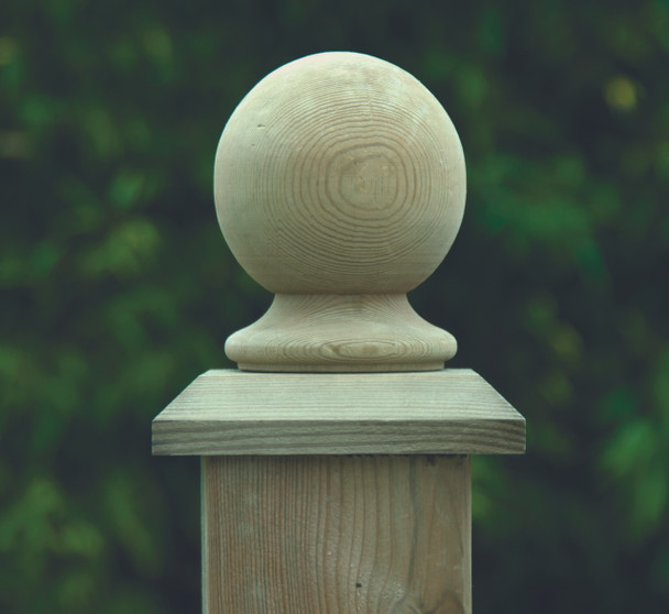 Ball Finial (75mm) - Pressure Treated Green Timber