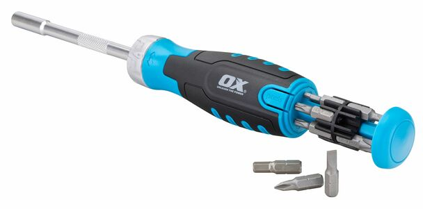 OX Tools - Pro Heavy Duty Multibit Ratchet Screwdriver