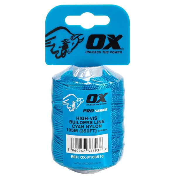 OX Tools - Pro Nylon High Vis Builders Line (105m)