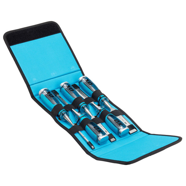 OX Tools - Pro 5 Piece Wood Chisel Set in Velcro Case