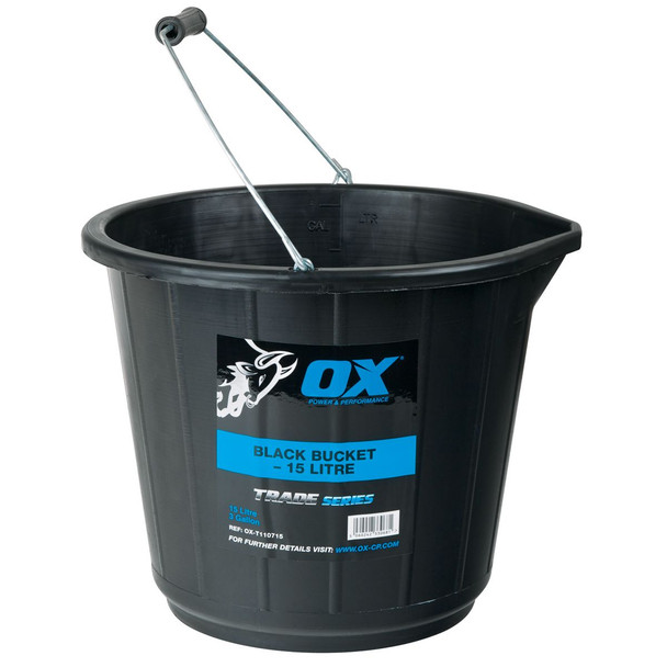 OX Tools - Trade 15L Black Bucket