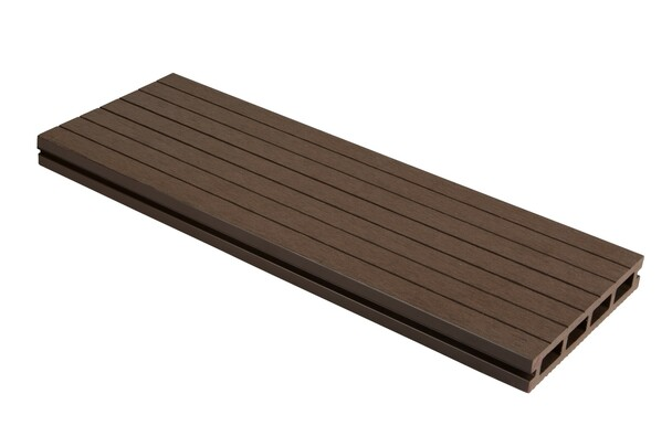 SmartBoard Composite Decking (3600 x 23 x 143mm) - Walnut Oak