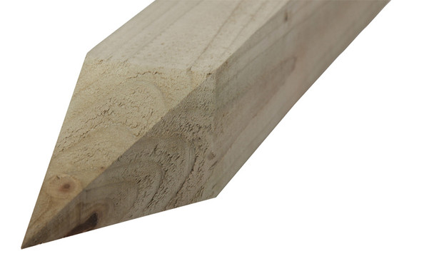 Pointed End Fence Post (2100 x 75 x 125mm) - Pressure Treated Green Timber
