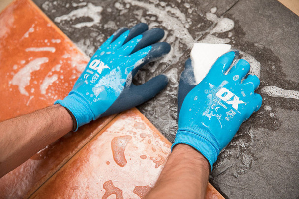 OX Tools - Waterproof Foam Latex Gloves