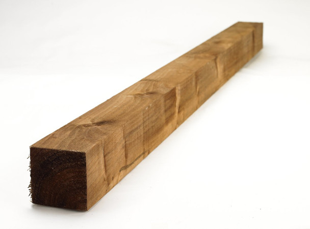 Fence Post (2100 x 100 x 100mm) - Pressure Treated Brown Timber