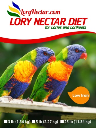 Best LoryNectar Diet that has low Iron.