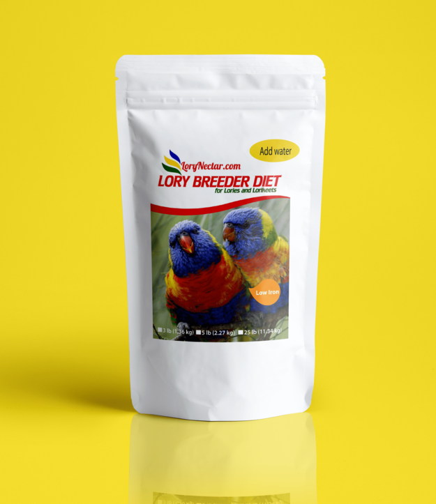 Best LoryNectar Breeder Diet with Low Iron and High Protein.