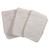 "3"" x 5"" Muslin Culinary Bags.  Use for reusable teabags, spice bags, sachets, herbal baths, Herbal foot soaks, gift bags, party favor bags and crafts."