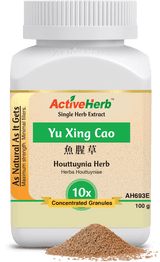 Yu Xing Cao Single Herb Extract 100 grams Active Herb  Yu Xing Cao is acrid, slightly cold.