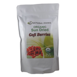 This bright red berry contains extremely high levels of antioxidants, 18 amino acids, is rich in vitamins A and C, minerals and is a source of unique phytonutrients   SUN DRIED GOJI BERRIES - ORGANIC