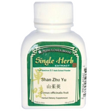 Shan Zhu Yu, Dogwood, Cornus Fruit - Plum Flower, Concentrated Powder 100 gram bottle