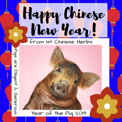 Happy Chinese New Year from 1st Chinese Herbs!