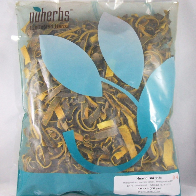 Huang Bai Phellodendron Bark nuherbs Lab-Tested Bulk Herbs cut form 1lb (P14710)