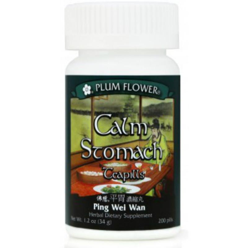 Calm Stomach Teapills (Ping Wei Wan) - 200 Pills/Bottle - Plum Flower Brand