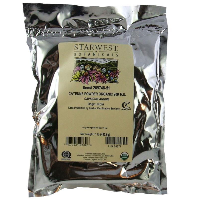 Cayenne Powder Organic 90 HKU