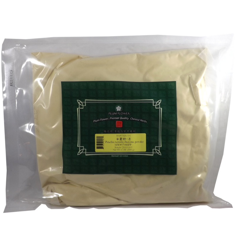Pinellia Rhizome (Ban Xia) - Plum Flower Powder 1 lb.