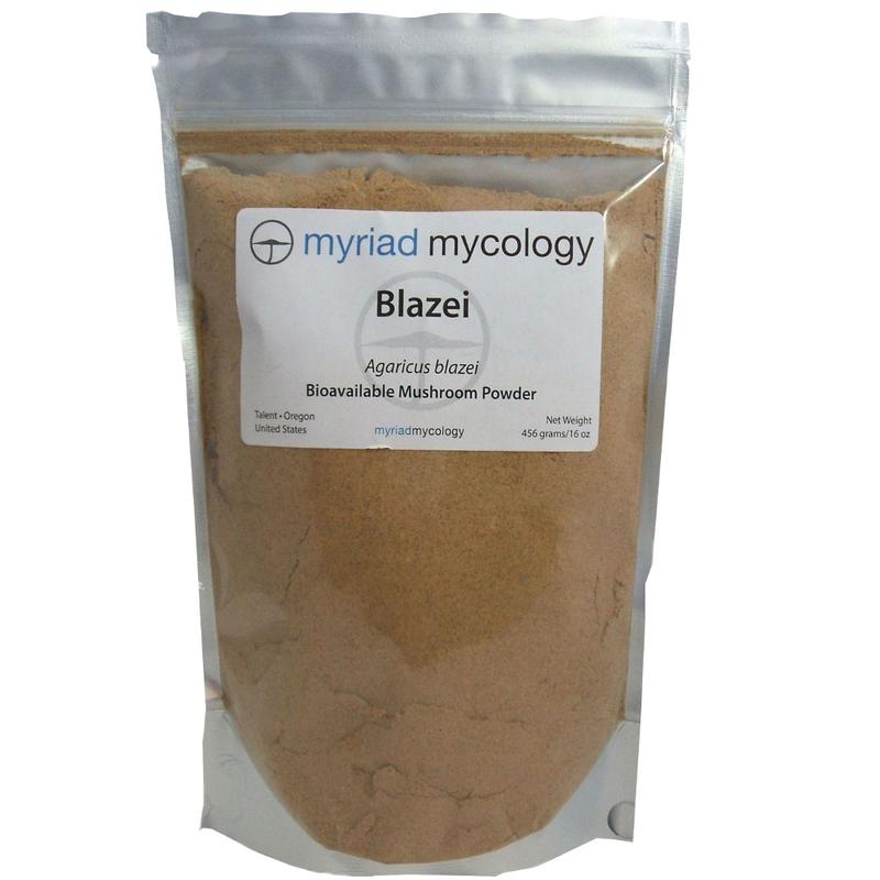 Blazei Mushrooms Agaricus Blazei Myriad Mycology Mushroom Powder 1 lb