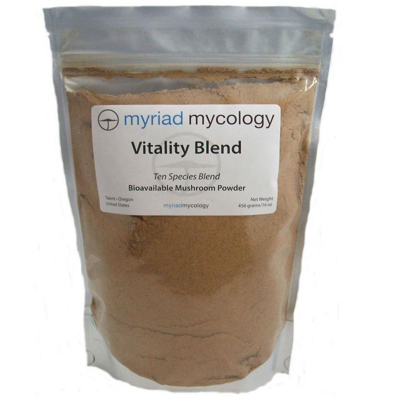 Vitality Blend -Ten Species Myriad Mycology Mushroom Powder 1 lb
