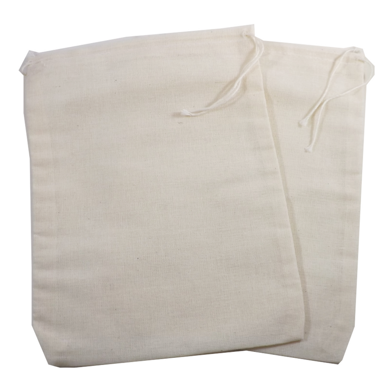 """Re-useable Muslin Teabags 6"""" x 8"""" 1 teabag (Culinary bags) - Muslin Culinary Bags.  Use for reusable teabags, spice bags, sachets, herbal baths, Herbal foot soaks, gift bags, party favor bags and crafts."""