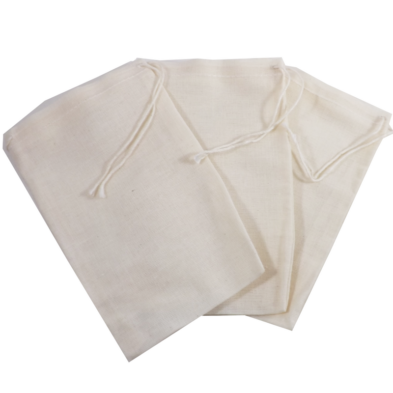 """Re-usable Muslin Teabags 4"""" x 6"""" 1 teabag (Culinary bags)  Muslin Culinary Bags - Use for reusable teabags, spice bags, sachets, herbal baths, Herbal foot soaks, gift bags, party favor bags and crafts."""