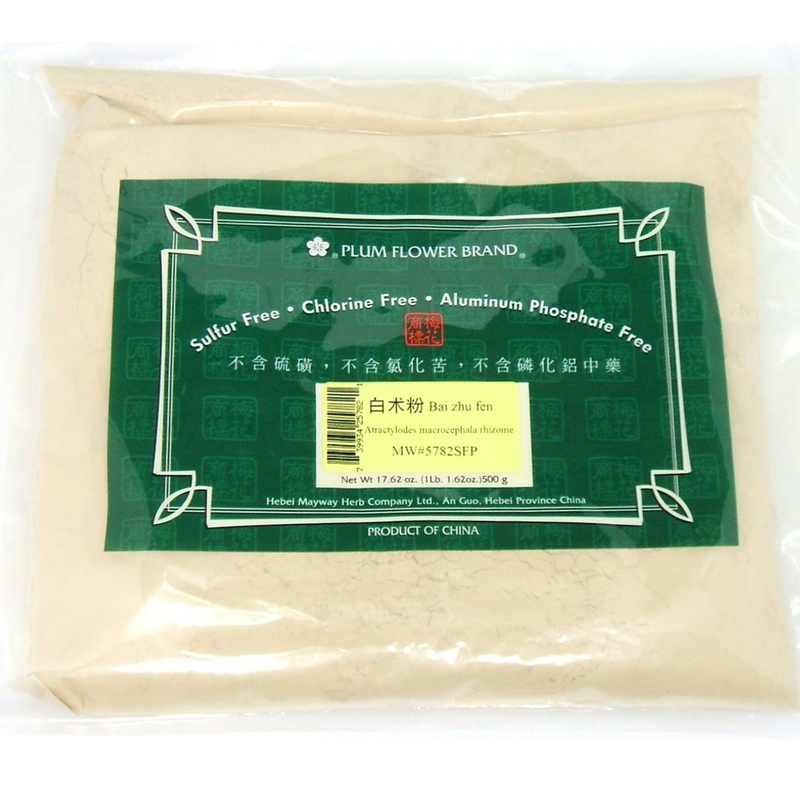 White Atractylodes Rhizome - Bai Zhu - Plum Flower, Powder 1lb